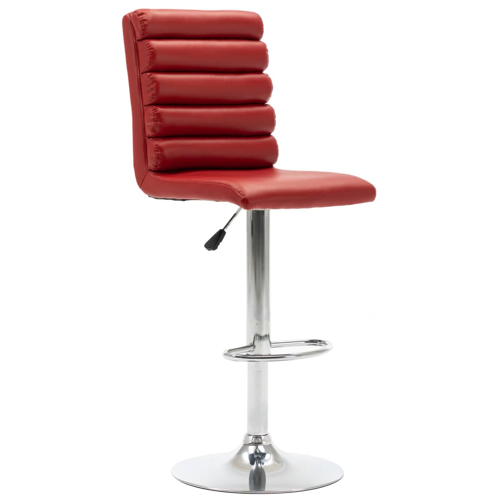 Barová židle vínová umělá kůže