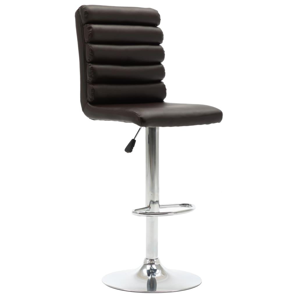 Barová židle hnědá umělá kůže