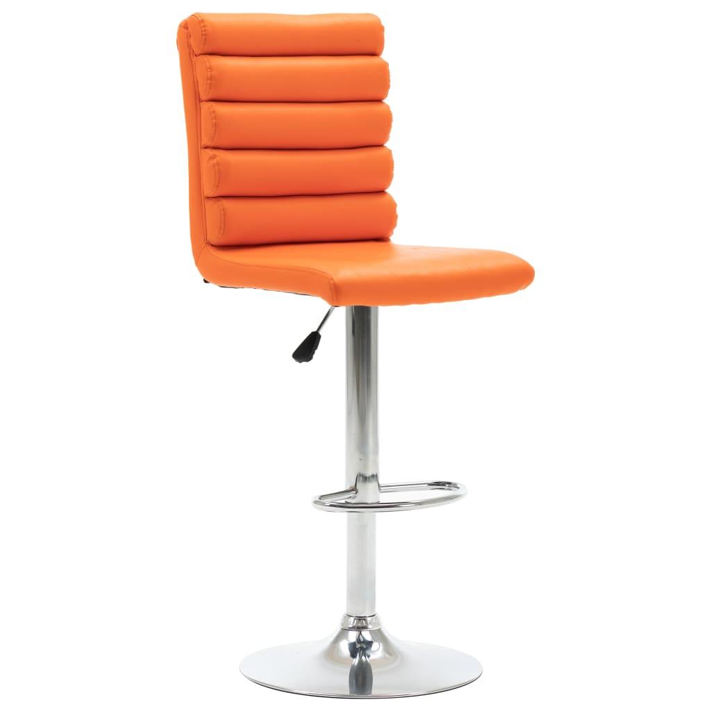 vidaXL Scaun de bar, portocaliu, piele ecologică vidaxl.ro