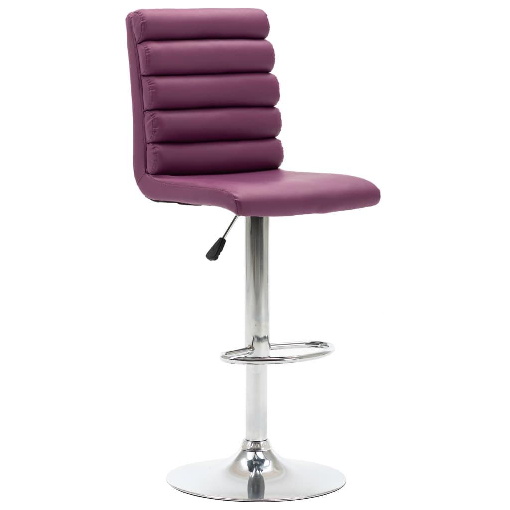 vidaXL Chaise de bar Violet Similicuir
