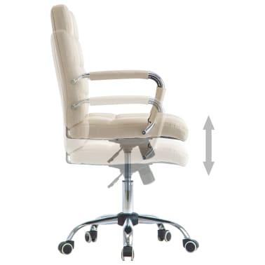 vidaXL Chaise de bureau Crème Tissu[3/7]