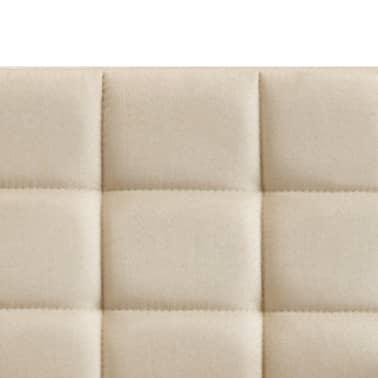 vidaXL Chaise de bureau Crème Tissu[5/7]