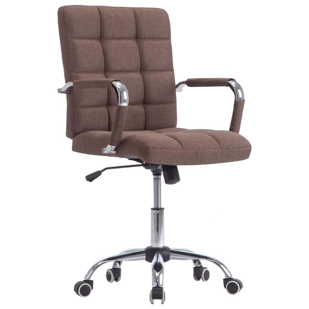 vidaXL Καρέκλα Γραφείου Καφέ Υφασμάτινη