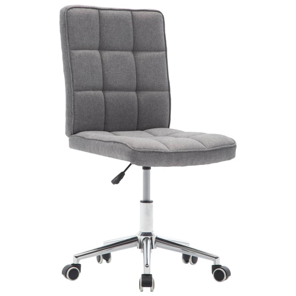 Jídelní židle světle šedá textil