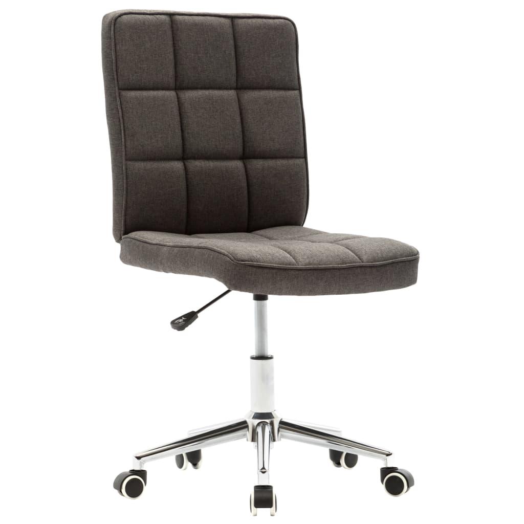 vidaXL Jídelní židle tmavě šedá textil