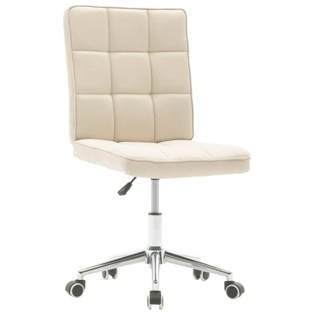 vidaXL Jídelní židle krémová textil