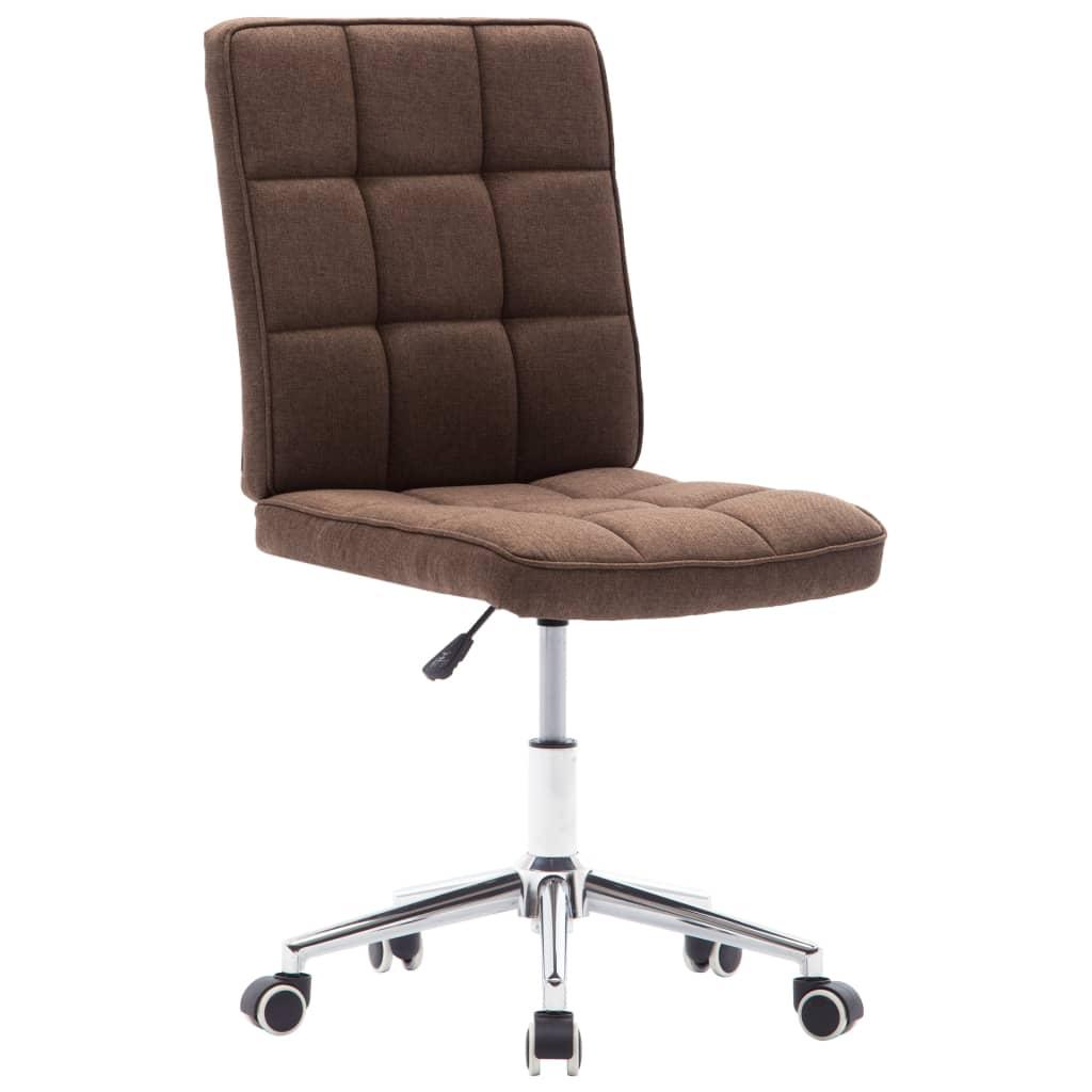 Jídelní židle hnědá textil