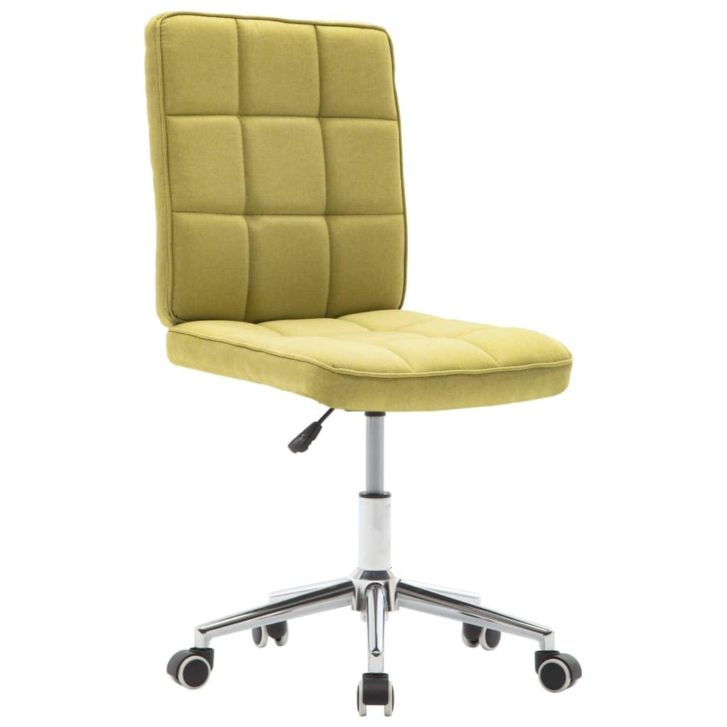 vidaXL Jídelní židle zelená textil