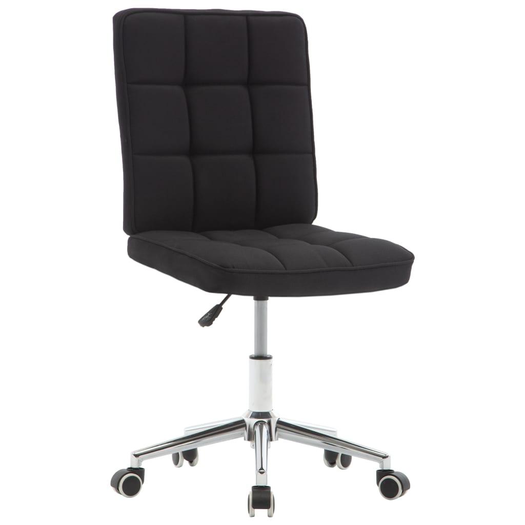 vidaXL Jídelní židle černá textil