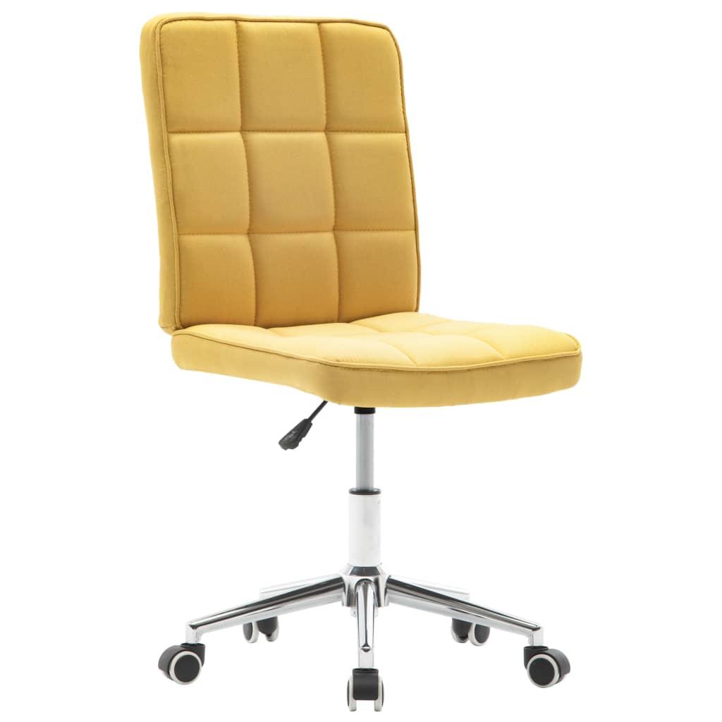 vidaXL Jídelní židle žlutá textil