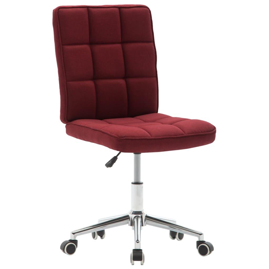 vidaXL Jídelní židle vínová textil
