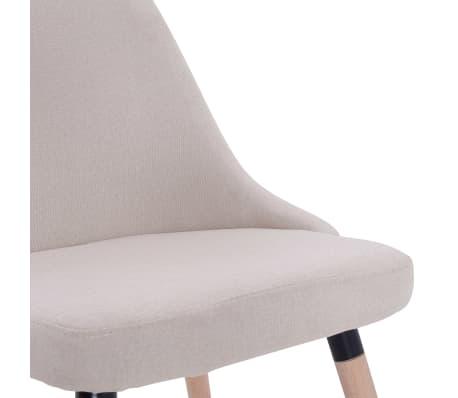 vidaXL Esszimmerstühle 2 Stk. Cremeweiß Stoff[7/8]