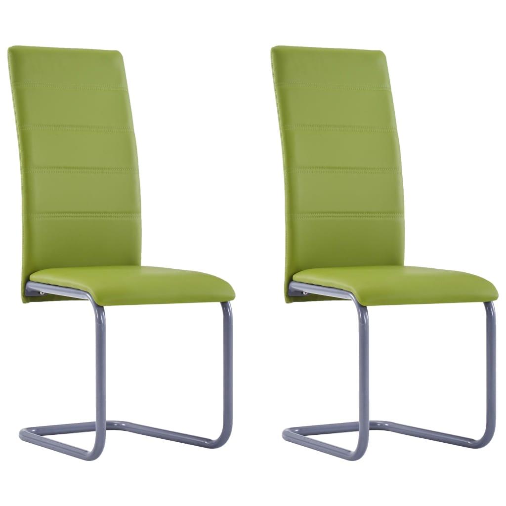 vidaXL Καρέκλες Τραπεζαρίας 2 τεμ. Πράσινες από Συνθετικό Δέρμα