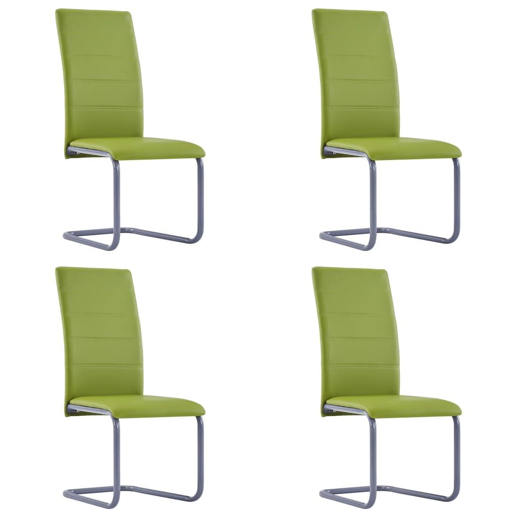 vidaXL Καρέκλες Τραπεζαρίας 4 τεμ. Πράσινες από Συνθετικό Δέρμα