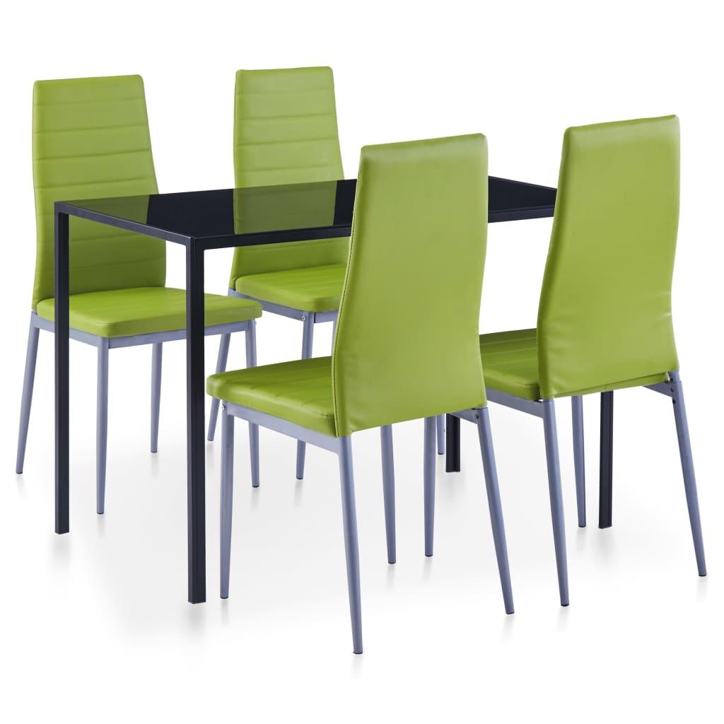 5dílný jídelní set zelený