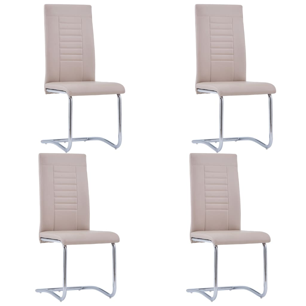 vidaXL Καρέκλες Τραπεζαρίας «Πρόβολος» 4 τεμ. Καπουτσίνο Συνθετ. Δέρμα