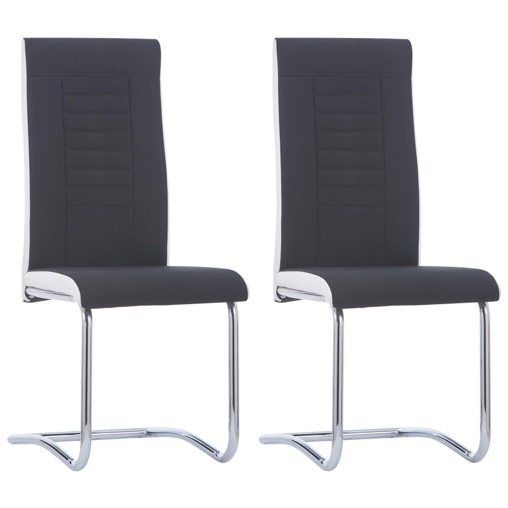 vidaXL Καρέκλες Τραπεζαρίας «Πρόβολος» 2 τεμ. Μαύρες Υφασμάτινες
