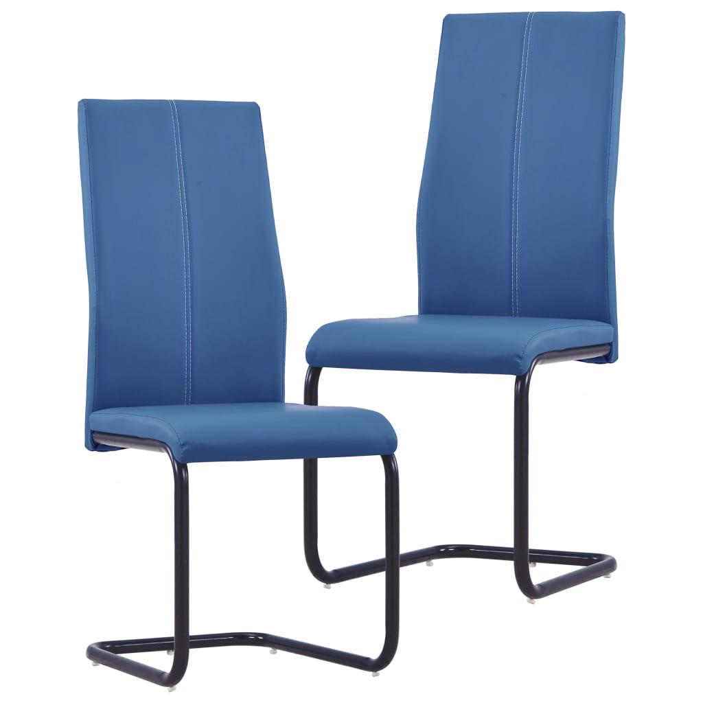 Vetruvate jalgadega söögitoolid 2 tk, sinine, k..