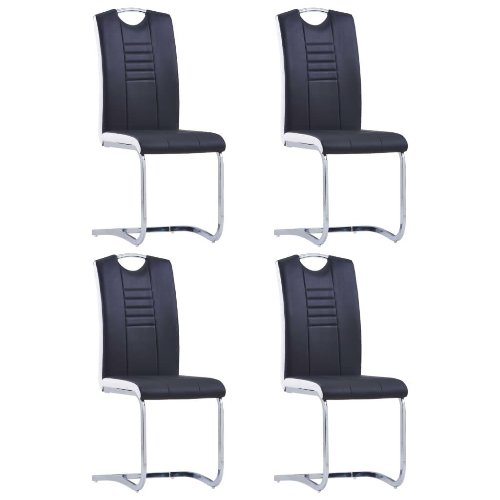 vidaXL Konzolne blagovaonske stolice od umjetne kože 4 kom crne