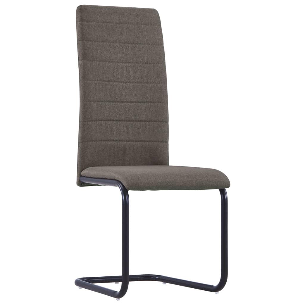 vidaXL Eetkamerstoelen 4 st stof taupe meubelen stoelen