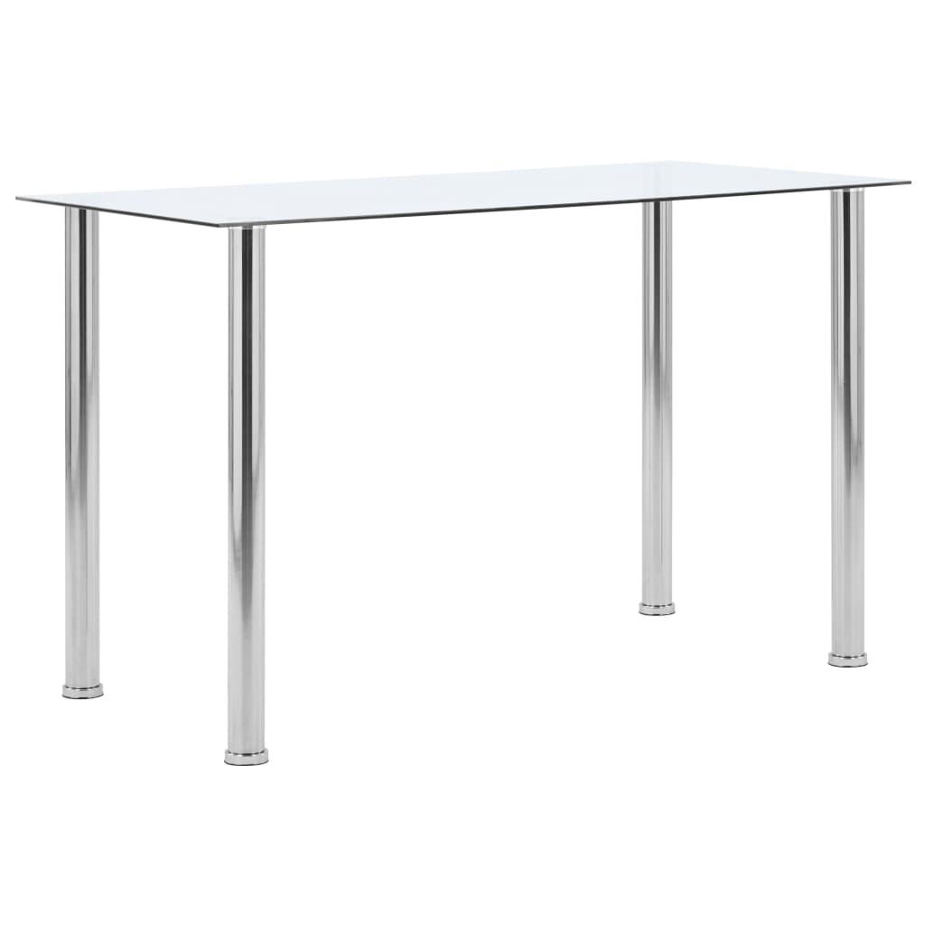 Jídelní stůl průhledný 120 x 60 x 75 cm tvrzené sklo