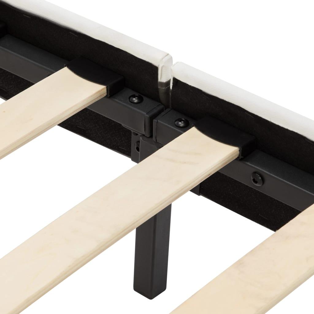 vidaXL Bedframe kunstleer grijs en wit 160x200 cm