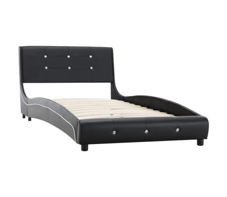 vidaXL Rám postele čierny umelá koža 90x200 cm[2/8]