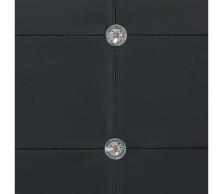 vidaXL Rám postele čierny umelá koža 90x200 cm[6/8]