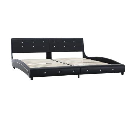 vidaXL Cadre de lit Noir Similicuir 180 x 200 cm[2/8]