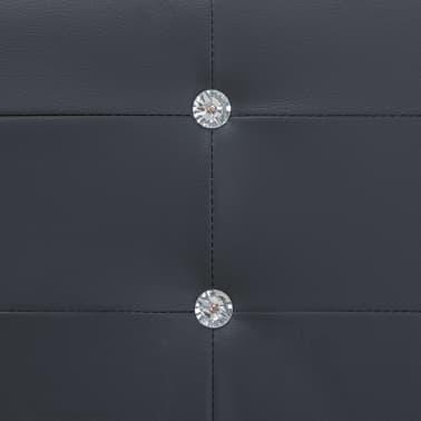 vidaXL Cadre de lit Noir Similicuir 180 x 200 cm[6/8]