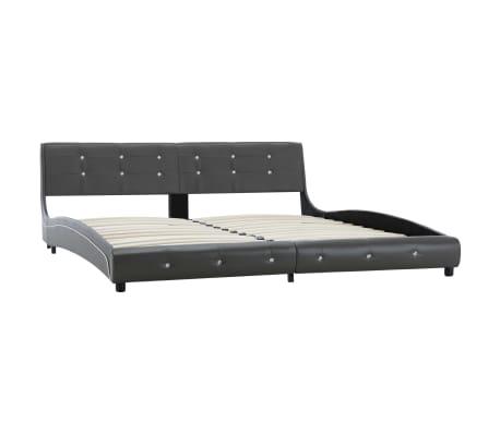 vidaXL Cadre de lit Gris Similicuir 180 x 200 cm[2/8]