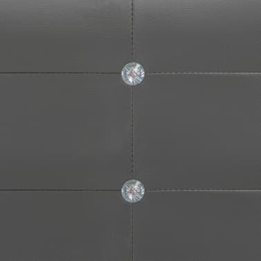 vidaXL Cadre de lit Gris Similicuir 180 x 200 cm[6/8]