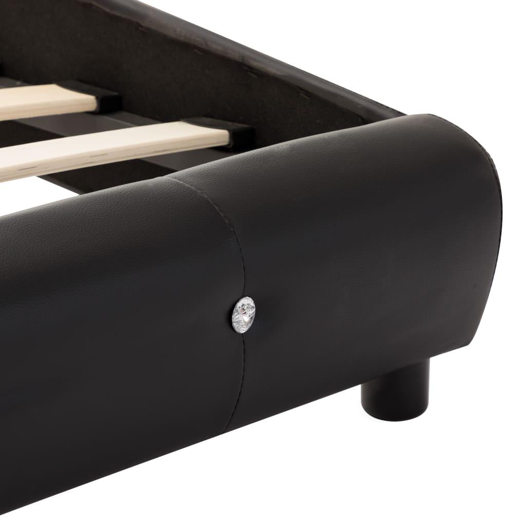vidaXL Bedframe met LED kunstleer zwart 90x200 cm