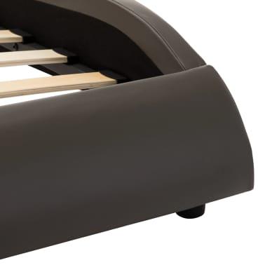vidaXL Cadre de lit Gris et blanc Similicuir 160 x 200 cm[6/7]