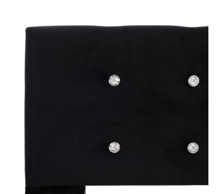 vidaXL Cadre de lit Noir Velours 160 x 200 cm[5/7]
