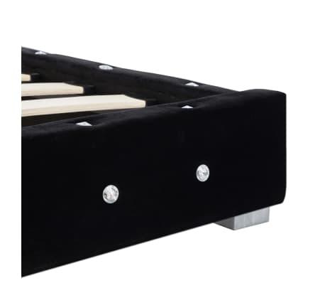 vidaXL Cadre de lit Noir Velours 160 x 200 cm[6/7]