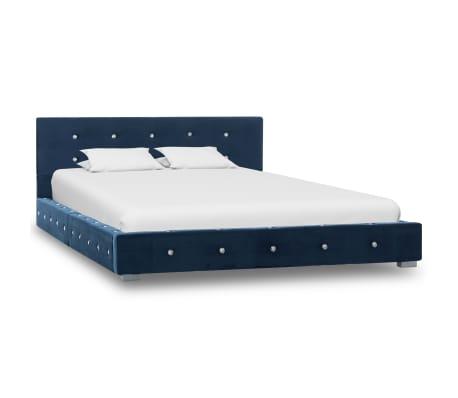 vidaXL Bedframe fluweel blauw 120x200 cm