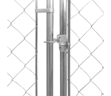 """vidaXL Outdoor Dog Kennel Galvanised Steel 236.2""""x236.2""""x78.7""""[3/4]"""