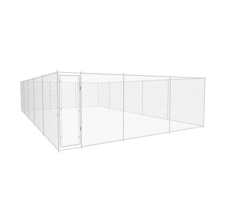 vidaXL Outdoor Dog Kennel Galvanised Steel 31.2'x18.7'x6.1'