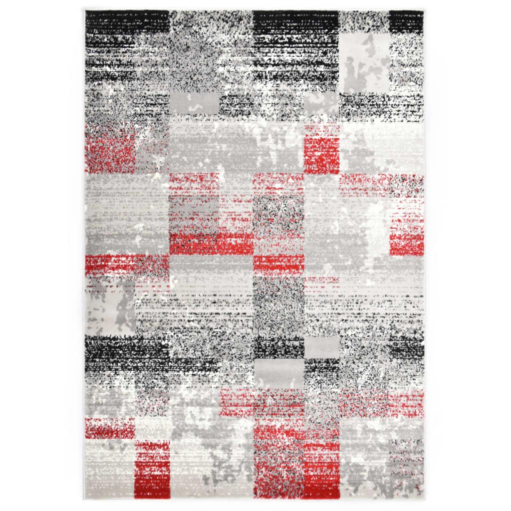 Koberec šedo-červený 80 x 150 cm PP