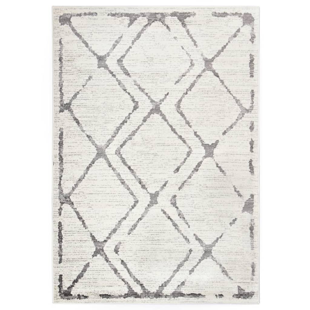 vidaXL Koberec krémovo-šedý 80 x 150 cm PP