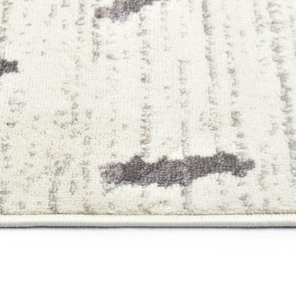 Vloerkleed 160x230 cm PP crème en grijs