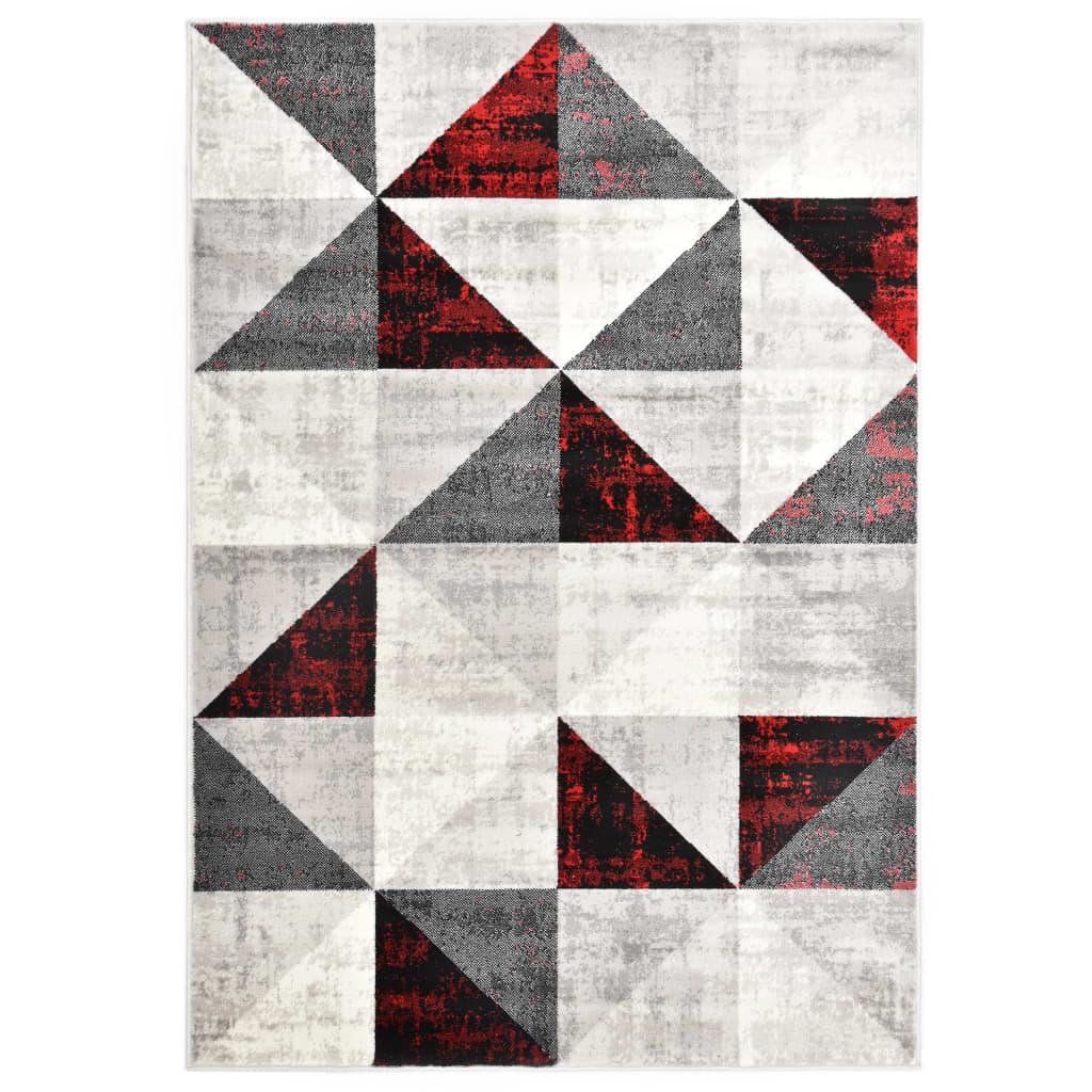 vidaXL Koberec černo-červený 80 x 150 cm PP