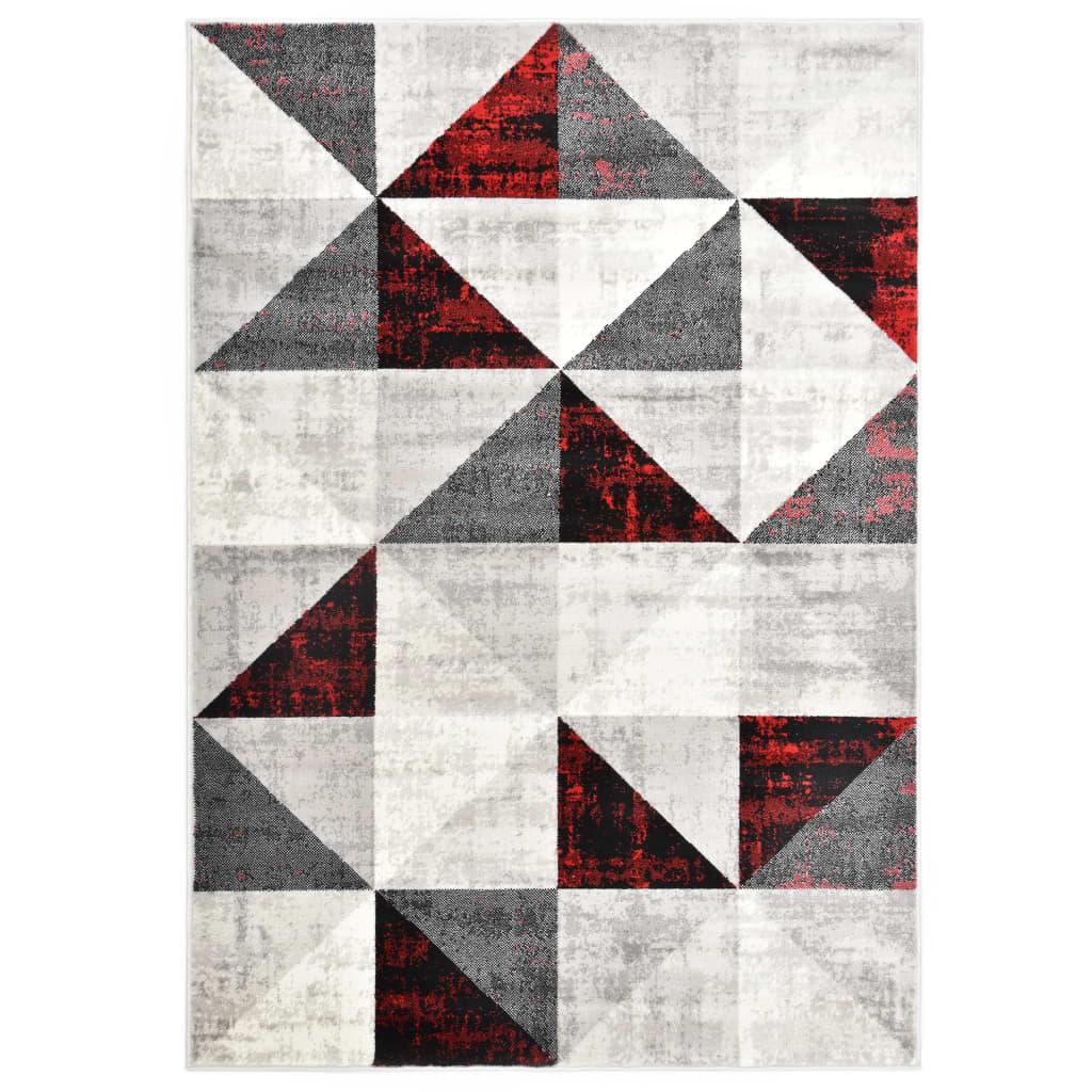 vidaXL Covor, negru și roșu, 120 x 170 cm, PP poza vidaxl.ro