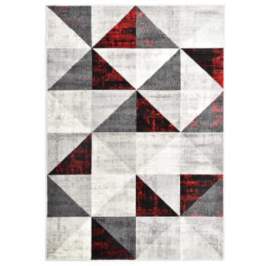 vidaXL Rug Black and Red 120x170 cm PP