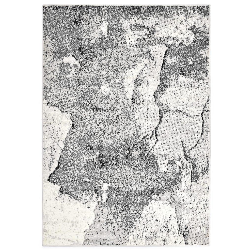 vidaXL Teppich Grau 140 x 200 cm PP