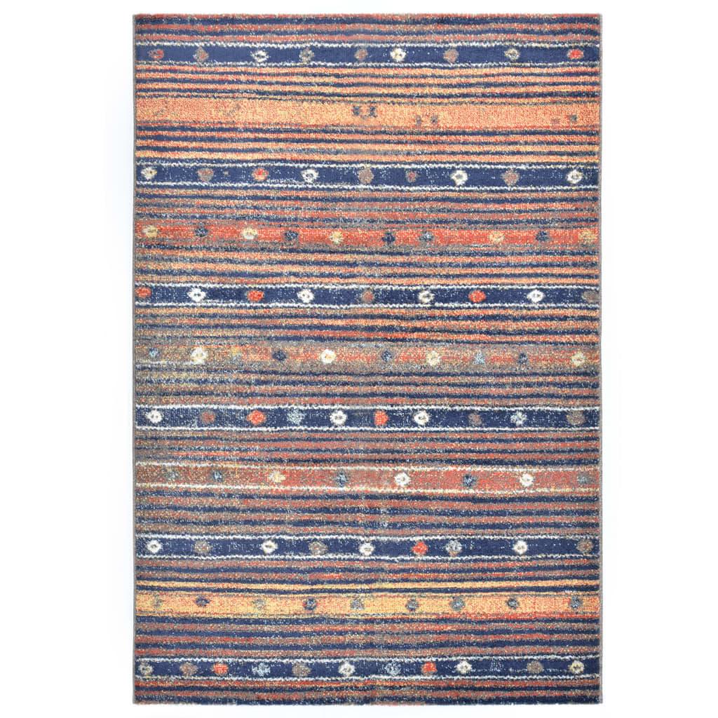Koberec modro-oranžový 80 x 150 cm PP