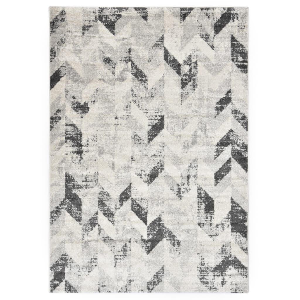 vidaXL Koberec šedo-bílý 80 x 150 cm PP