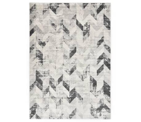 vidaXL Vloerkleed 160x230 cm PP grijs en wit