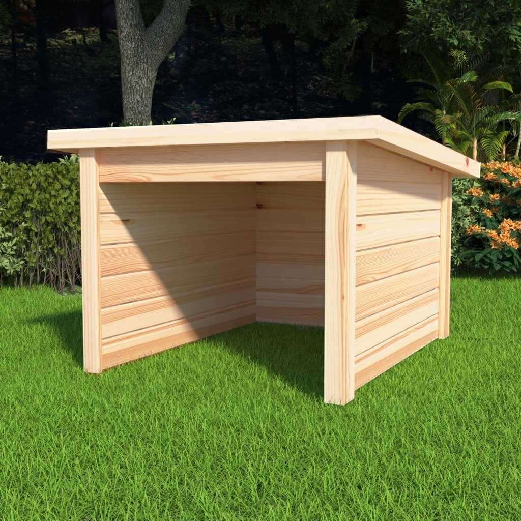 Garáž na sekačku 92 x 104 x 59,5 cm masivní borové dřevo 19 mm